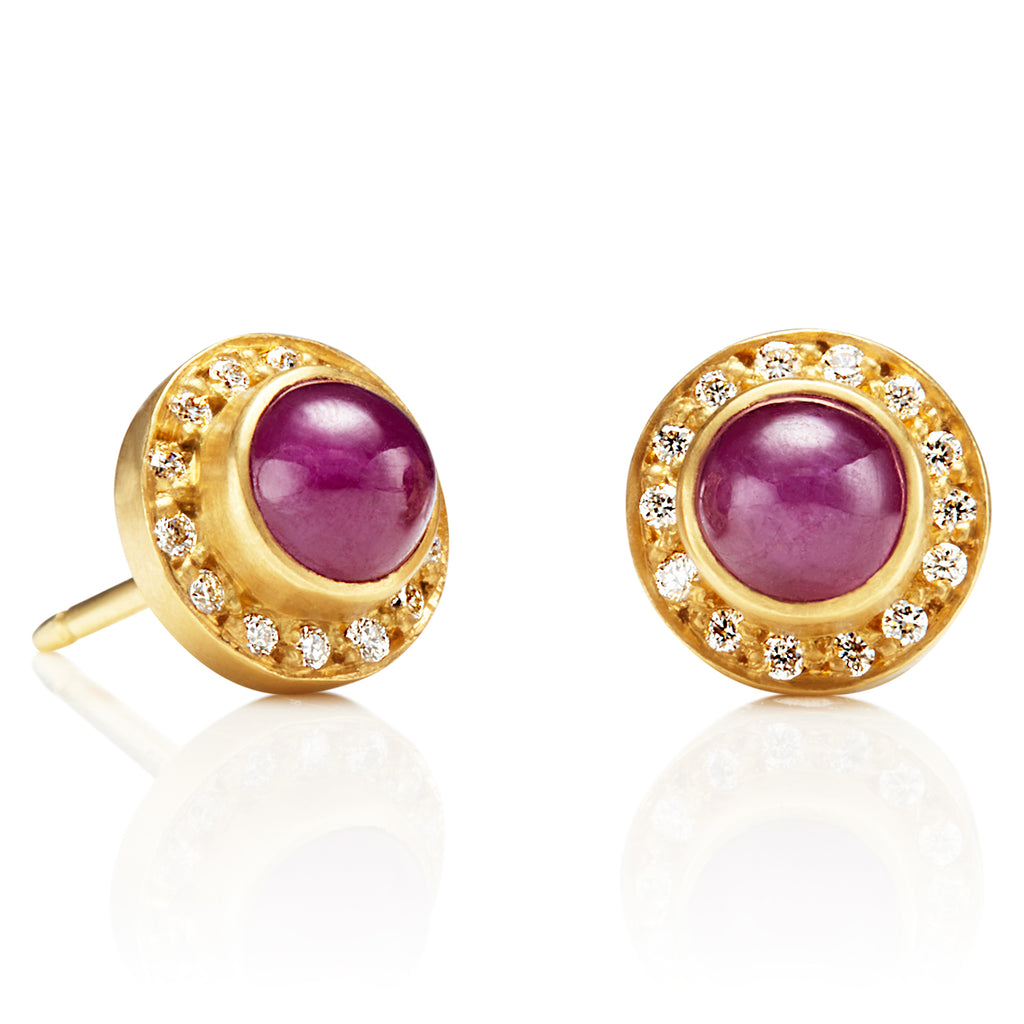 Ruby Sahara Earrings with Diamonds