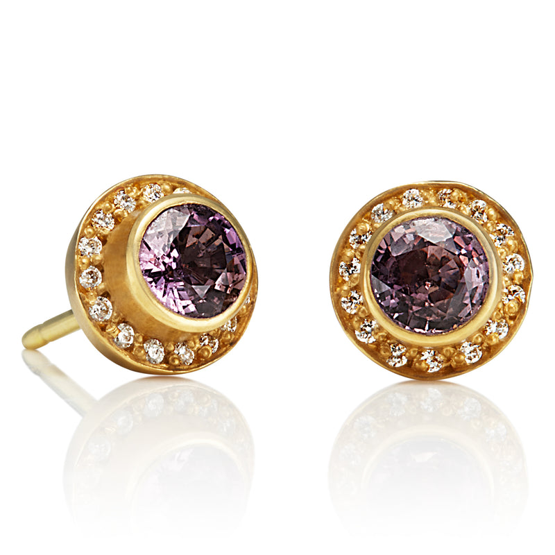 Purple Sapphire Sahara Earrings