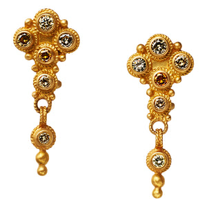 Shalimar Earrings with Champagne Diamonds
