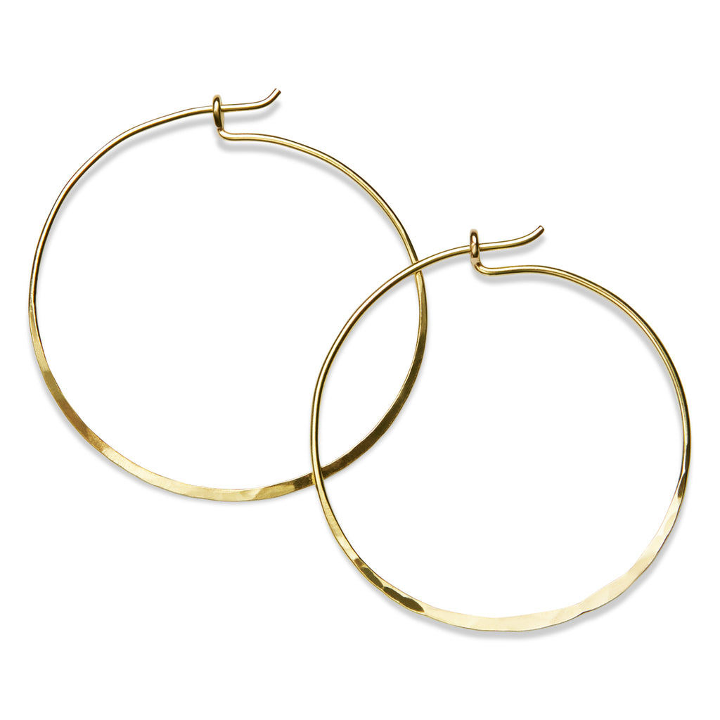 Medium Hammered Hoops