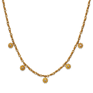 Daisy Necklace in 20K Peach Gold