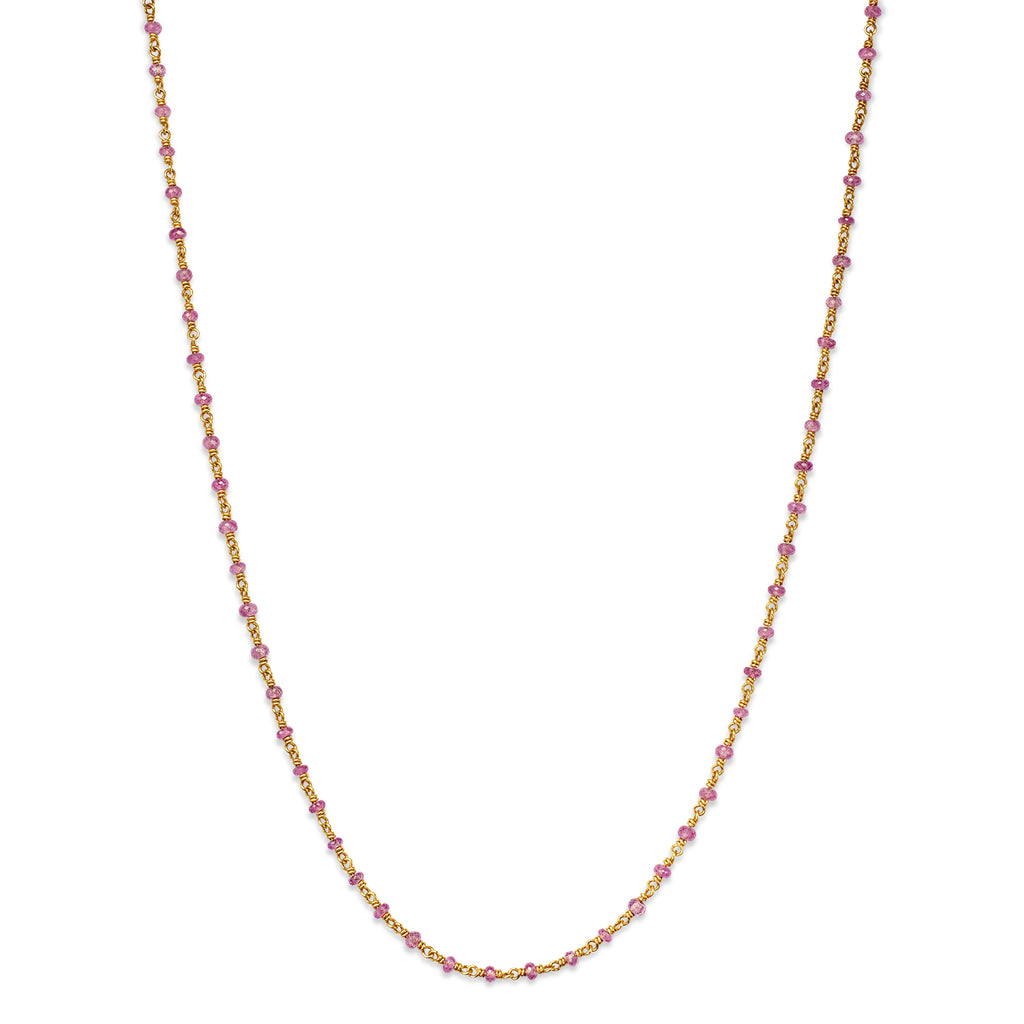 Isabella Necklace with Pink Sapphires