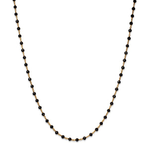 Isabella Necklace with Black Spinel