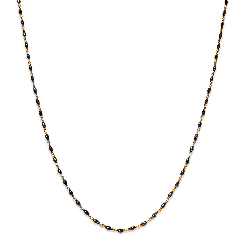 Isabella Necklace with Oval Black Diamonds