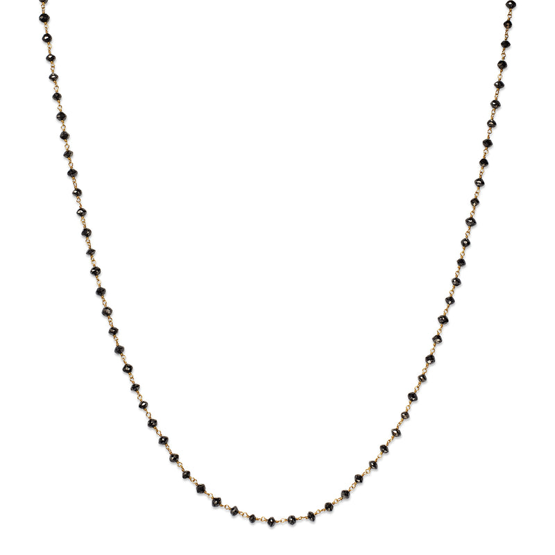 Isabella Necklace with Round, Black Diamonds