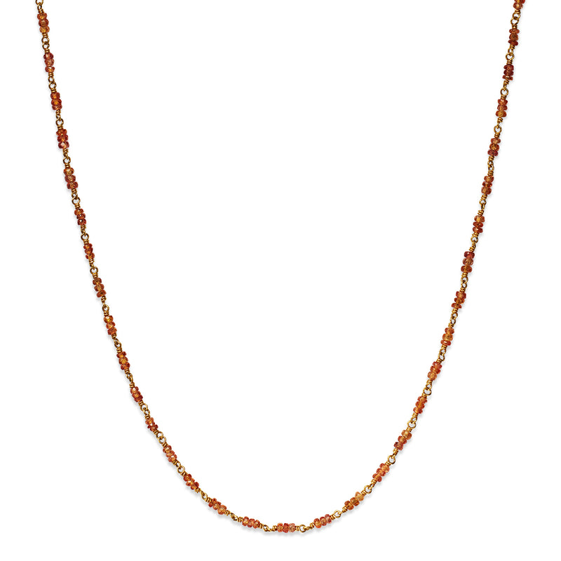 Isabella Necklace with Orange Sapphires