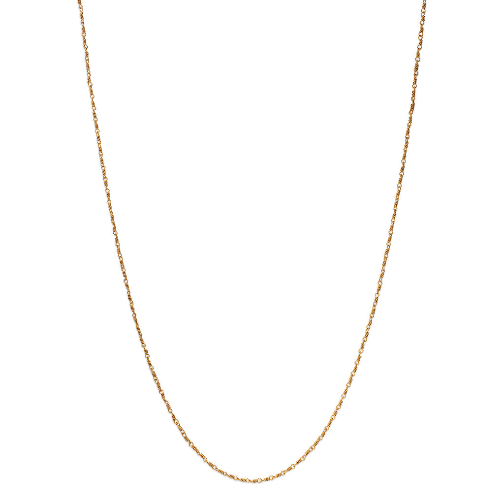 Delicate, Twisted Isabella Chain Necklace in 20K Peach Gold