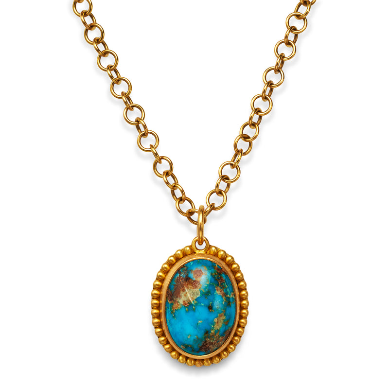Classic Pendant with Turquoise