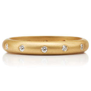 Pave Band with 12 Diamonds