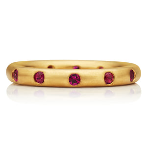Round Ring with Rubies