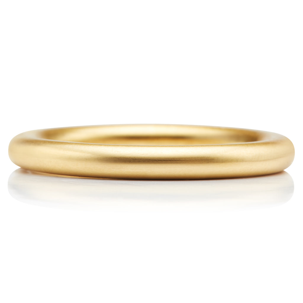 Round Band in 20K Peach Gold