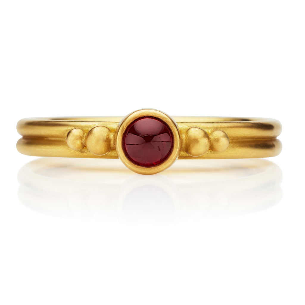 Dyan Ruby Ring in 20K Peach Gold