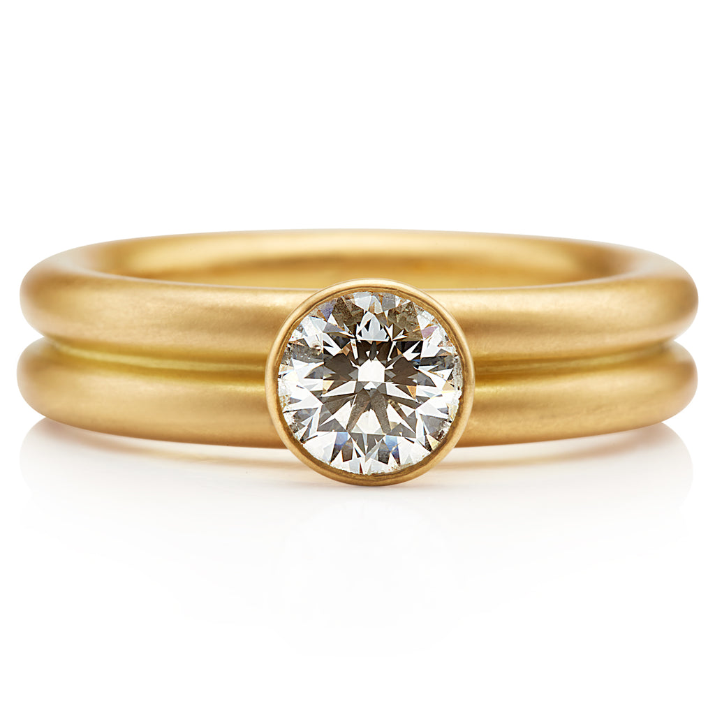 Leslie Diamond Ring in 20K Peach Gold