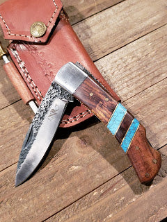 Hammered Steel & Turquoise Knives Now Available