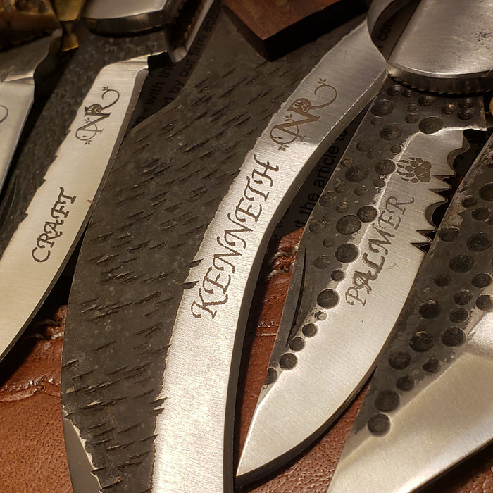 We Are Launching 2020 With Hammered Steel Blade Engraving - North Rustic