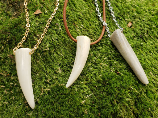 Deer Antler Tine Tip Necklace - North Rustic