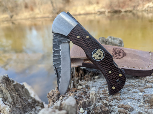 Personalized Folding Knife | Wenge Wood Handle | NR03-3 - North Rustic