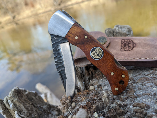 Personalized Folding Knife | Rose Wood Handle | NR04-1 - North Rustic