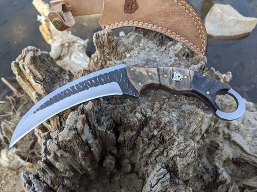 Personalized Hunting Knife | Ram Horn Handle Karambit | NR07-4 - North Rustic