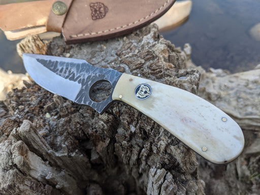 Personalized Hunting Knife | Buffalo Bone Handle | NR05-1 - North Rustic