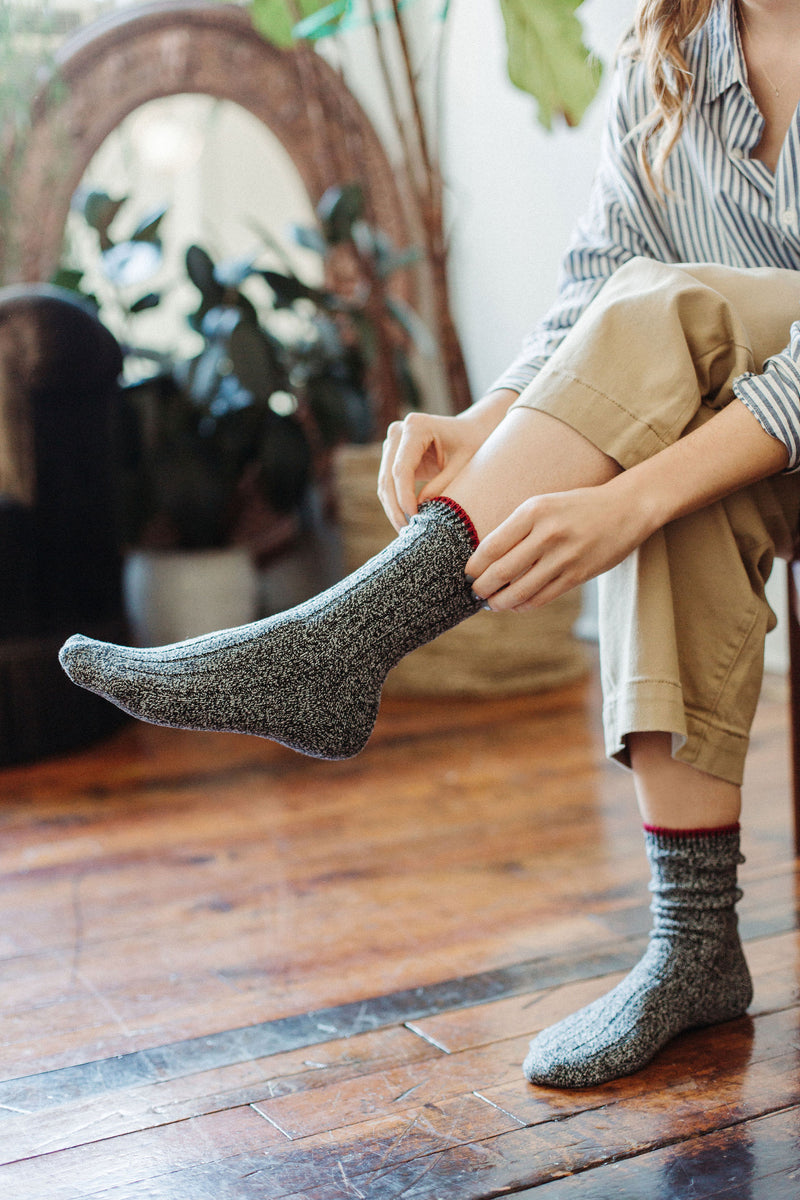 Supersoft Rib Boot Socks - Black (Women's) thumbnail