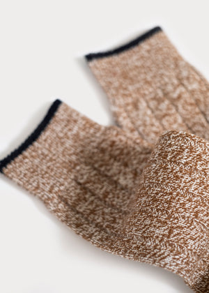 Wool Blend Weekender Rib Boot Socks - Camel thumbnail