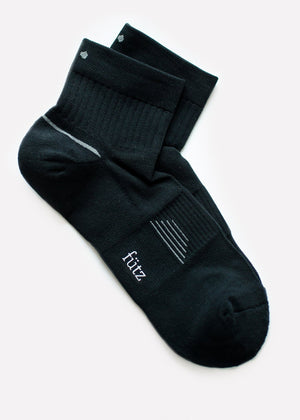 2Pk Men's Qtr Sport - Black thumbnail