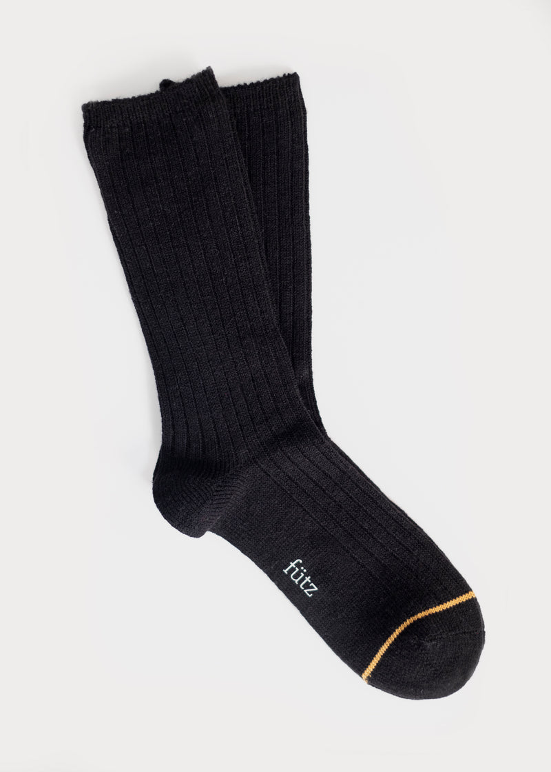 Wool Blend Dressy Boot Socks - Black (Women's) thumbnail