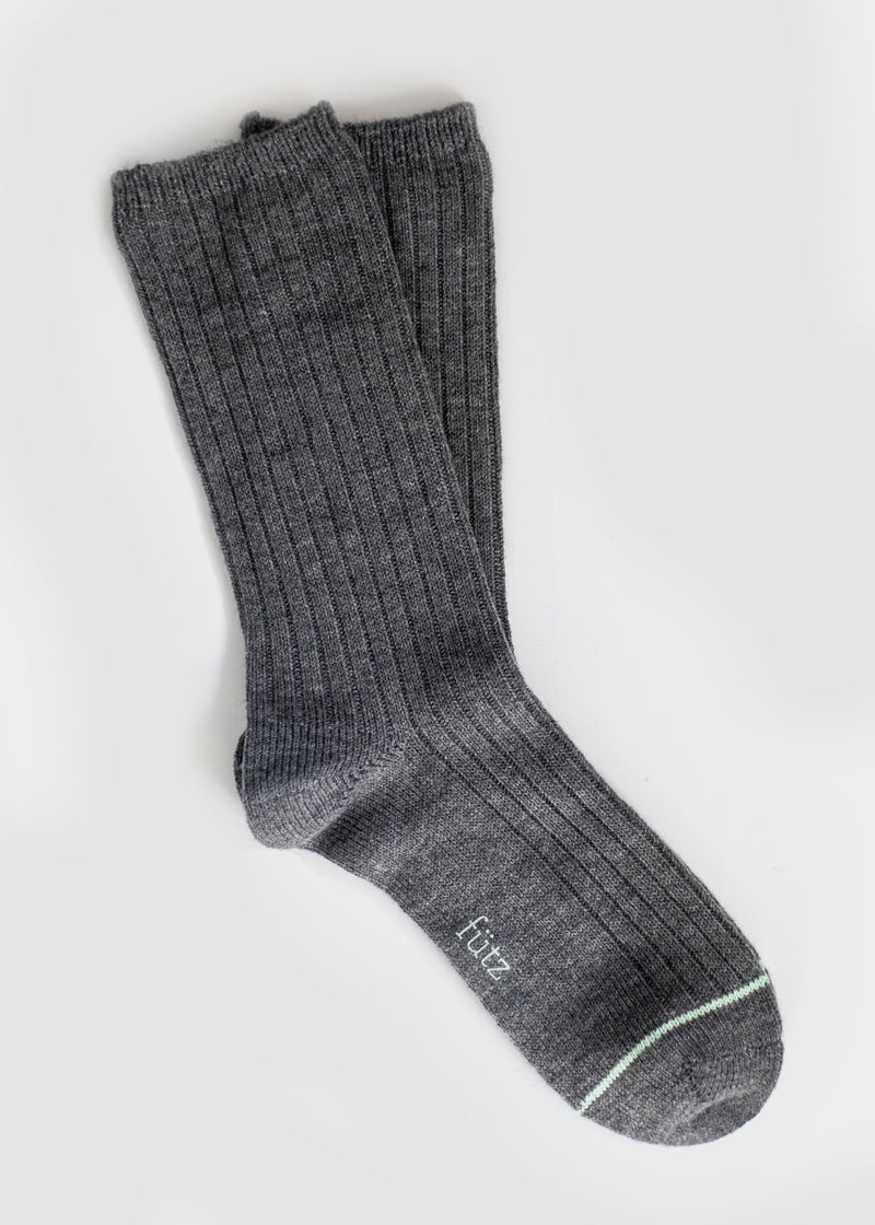 Wool Blend Dressy Boot Socks - Grey (Women's) thumbnail