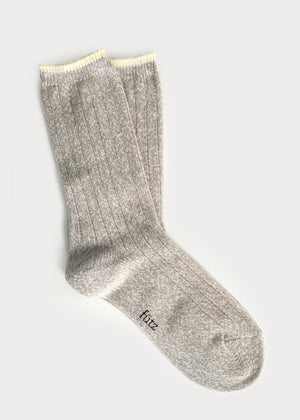 Supersoft Rib Boot Socks - Lt. Grey (Women's) thumbnail