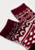 Wool Blend Nordic Boot Socks - Burgundy (Women's) thumbnail image