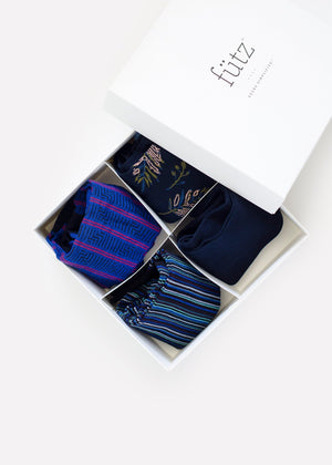 Men's Navy Box - 4 Pairs thumbnail