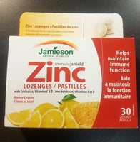 JAMIESON ZINC LOZENGE HONEY/LEMON 30'S