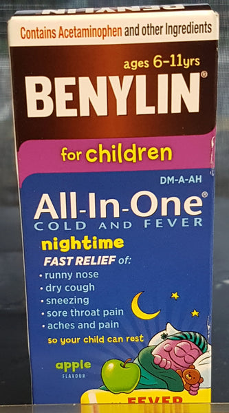 BENYLIN ALL-IN-ONE CHILD COLD & FEVER NIGHT 100ML