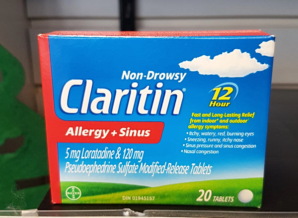 CLARITIN ALLERGY  SINUS 20S
