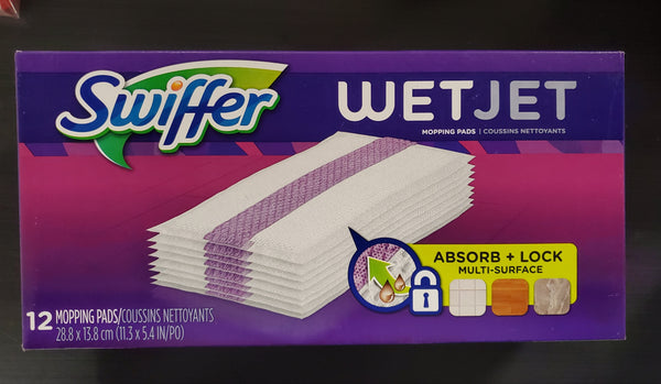 SWIFFER WET JET CLEANING PADS 12'S