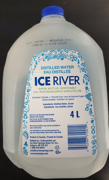 ICE RIVER DISTILLED WATER 4L