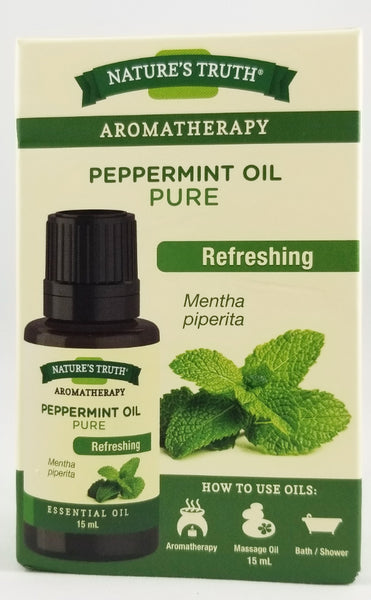 NATURE'S TRUTH PEPPERMINT OIL 15MLG