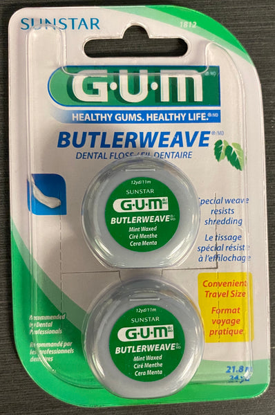 GUM BUTTERWEAVE FLOSS MINT 21.8m