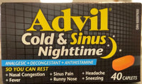 ADVIL COLD & SINUS NIGHTTIME 40S