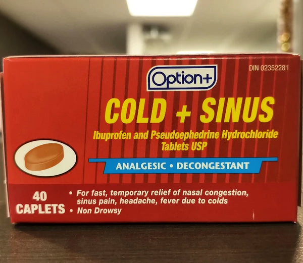 OPTION+ COLD & SINUS CAPLETS