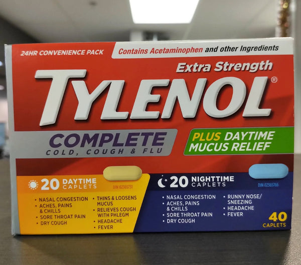 TYLENOL COMPLETE DAYNIGHT TABS 40S