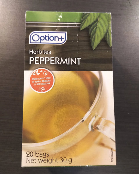 OPTION+ PEPPERMINT TEA 20 TEA BAGS