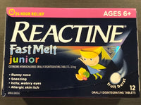 REACTINE JR FAST MELT 12S