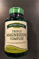 NATURE'S TRUTH TRIPLE  MAGNESIUM COMPLEX 100'S