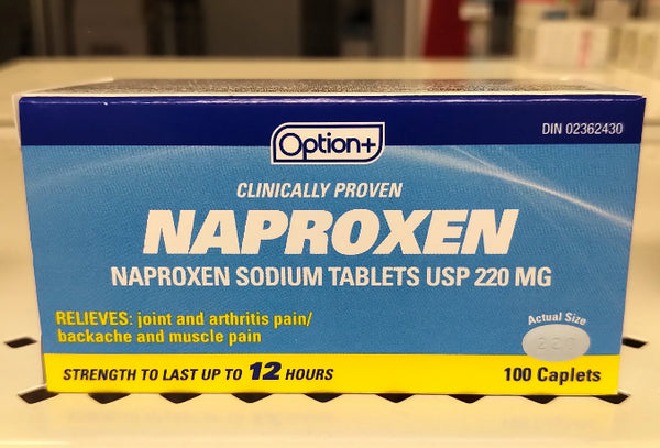 OPTION+ NAPROXEN SODIUM 220MG 120'S (GENERIC ALEVE)