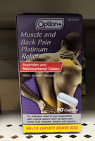 OPTION+ MUSCLE AND BACK PLATINUM CAPLETS 40+10