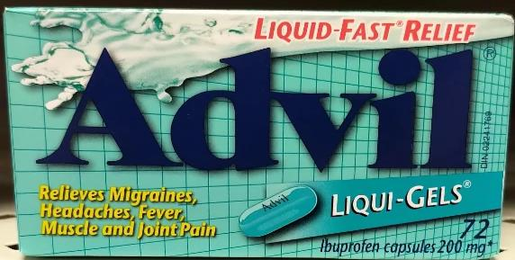 ADVIL LIQUI-GELS 72'S