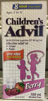 ADVIL FOR CHILD DYE FREE SUSP BERRY100ML
