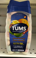 TUMS ASSORTED FRUIT EXTRA STRENGTH 100'S